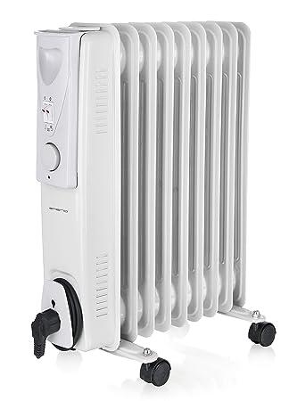 Radiador de Aceite 200W Bajo Consumo, 9 Elementos, Termostato, con Ruedas: Amazon.es: Electrónica