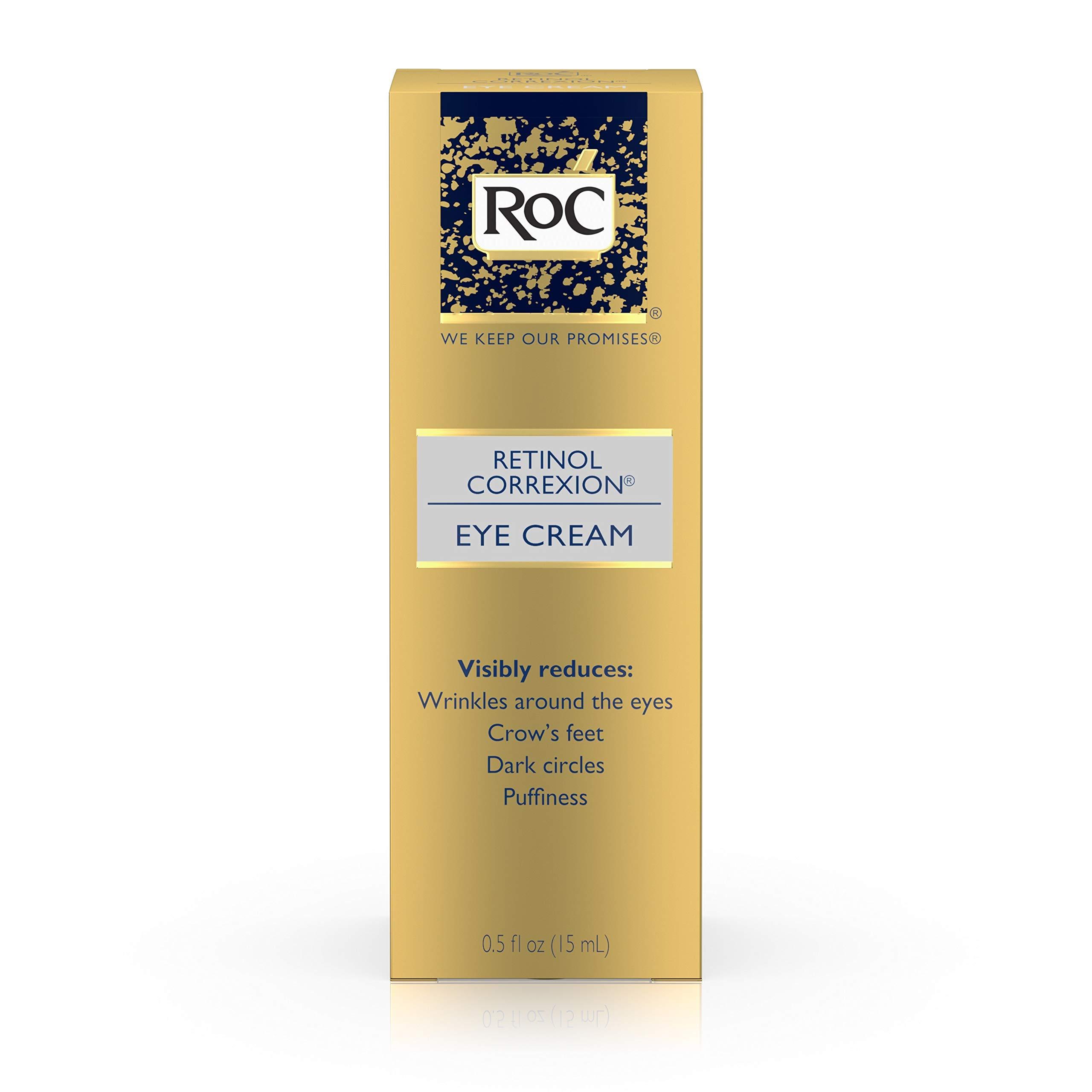 RoC Retinol Correxion Anti-Aging Eye Cream Treatment for Wrinkles, Crows Feet, Dark Circles, and Puffiness.5 fl. oz by RoC