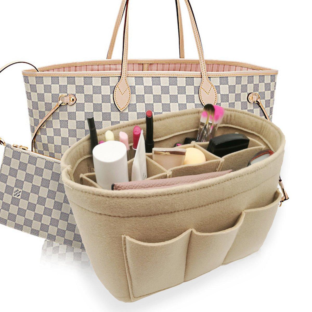 LEXSION Felt Handbag Organizer,Insert purse organizer Structure Shaper fits Speedy Beige M
