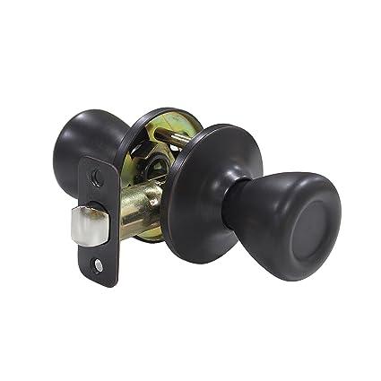 Passage Dark Oil Rubbed Bronze Lever Handle Door Hallway Closet No Lock