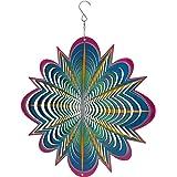 Sunnydaze 12 Inch Blue Dream 3D Whirligig Wind Spinner with Hook