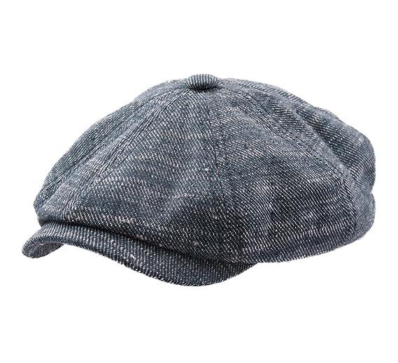 Stetson Hatteras Linen Silm Flat Cap Size M at Amazon Men s Clothing ... 044a0be0d4d7