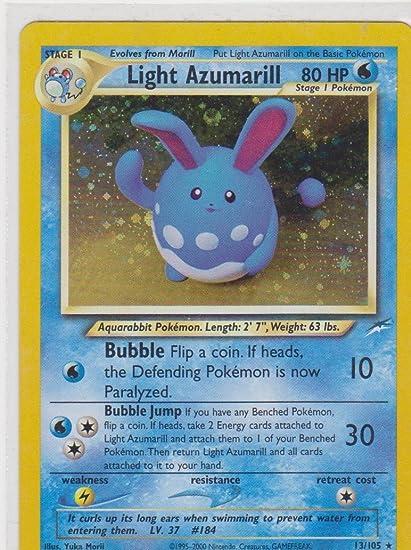 Amazoncom Pokemon Neo Destiny Holofoil Light Azumarill 13