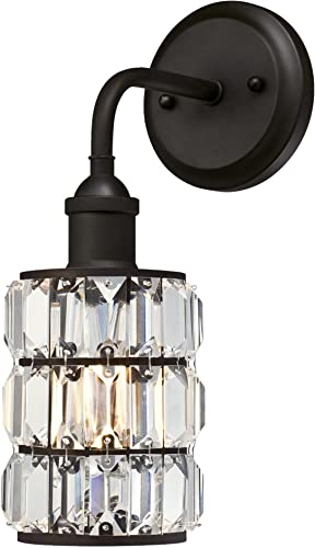 Westinghouse Lighting 6337500 Sophie One-Light Indoor Wall Fixture, Oil Rubbed Bronze Finish with Crystal Prism Glass