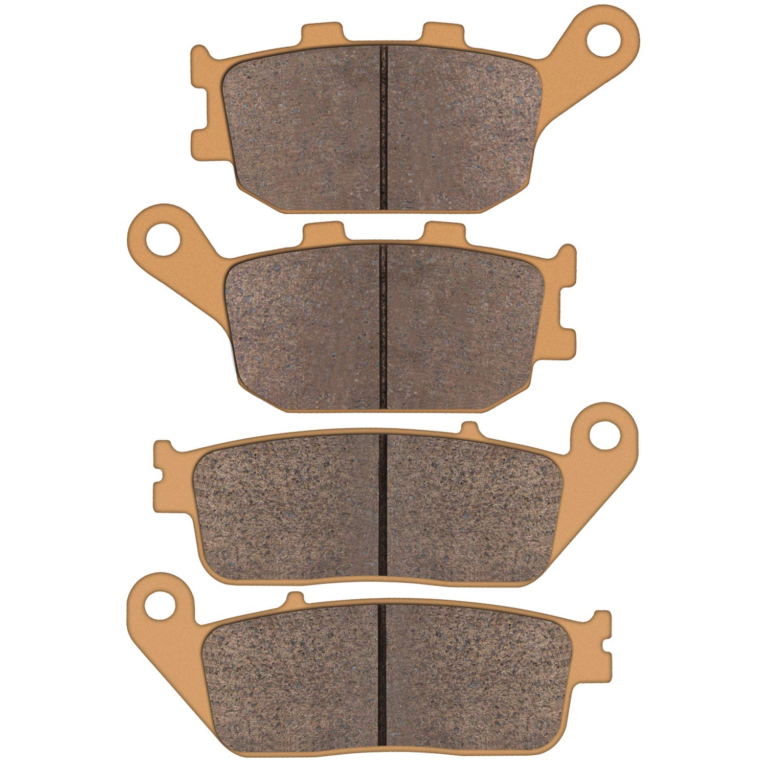 Zinger Brake Pads for Honda VT 1100 1300 VTX 1300 1995 1996 1997 1998 1999 2000 2001 2002 2003 2004 2005 2006 2007 2008 2009 2010 2011, 2 Set Sintered Front and Rear Brake Pads Replacement by Zinger Auto Parts