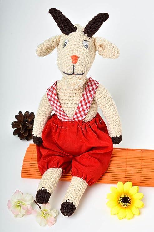 Animalito tejido a crochet juguete artesanal peluche original Chivo bonito