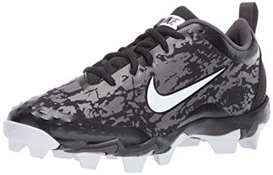 eba82d380038 Nike Women's Hyperdiamond 2.5 Keystone Baseball Shoe, Black/White/Thunder  Grey, 5.5