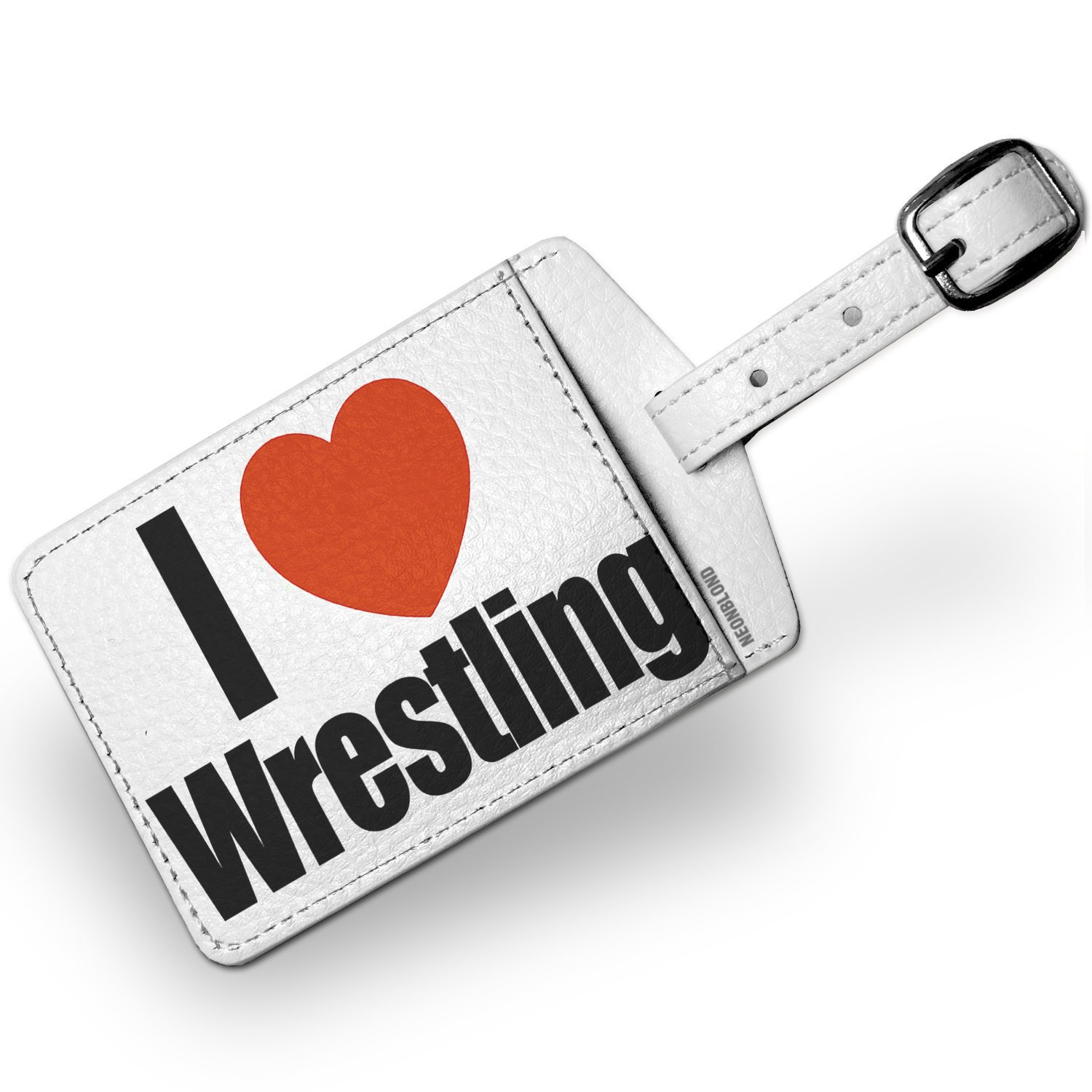 Luggage Tag I Love Wrestling - NEONBLOND