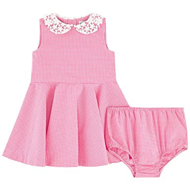 4e11549fa Image Unavailable. Image not available for. Color: RALPH LAUREN Baby Baby  Girl's Poplin Gingham Dress (9 ...
