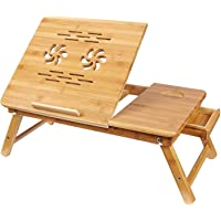 UNIGEAR Portable Foldable Wooden Laptop Table Stand (Wooden)