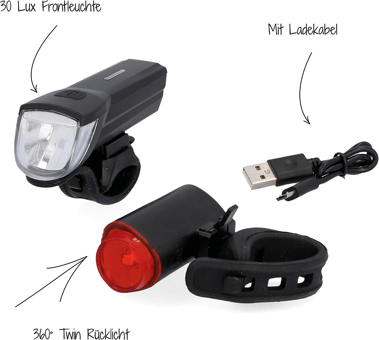 FISCHER USB Beleuchtungs-Set mit innovativer Bodenleuchte für mehr Sichtbarkeit