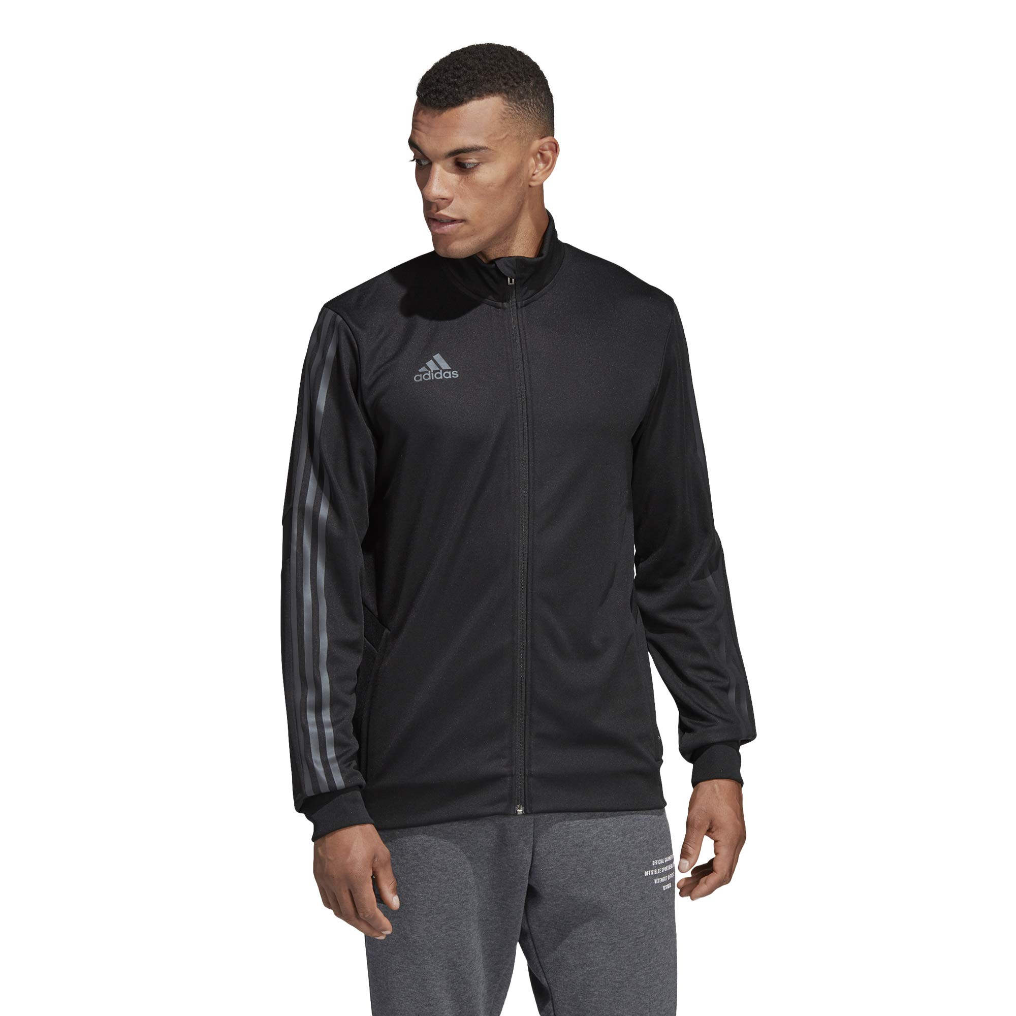adidas Men's Alphaskin Tiro Training Jacket, Black/Carbon Pearl Essence, Medium by adidas