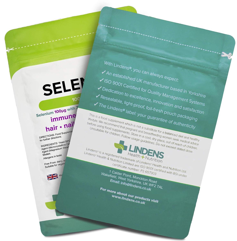Tilos selenio y zinc 1000mcg Tabletas | Paquete de 100 | NRV ...
