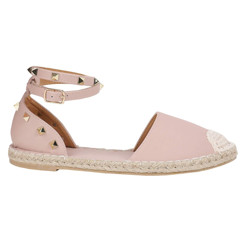 D-pink Syktkmx Womens Espadrilles Lace Up Flat Platform Ankle Strap Wrap Summer D'Orsay Sandals