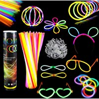 Barras luminosas, Pack de 100 Pulseras fluorescentes glow