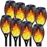Kurifier Solar Lights Outdoor, 8Pack Solar Torch Light with Flickering Flame, Security&Waterproof/Festive&Romantic Decoration