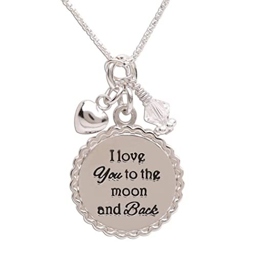 Charms Uniqueen I Love You To The Moon And Back Italian Charms Fit