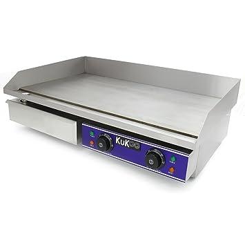 kukoo piastra elettrica da cucina 70cm in acciaio inossidabile