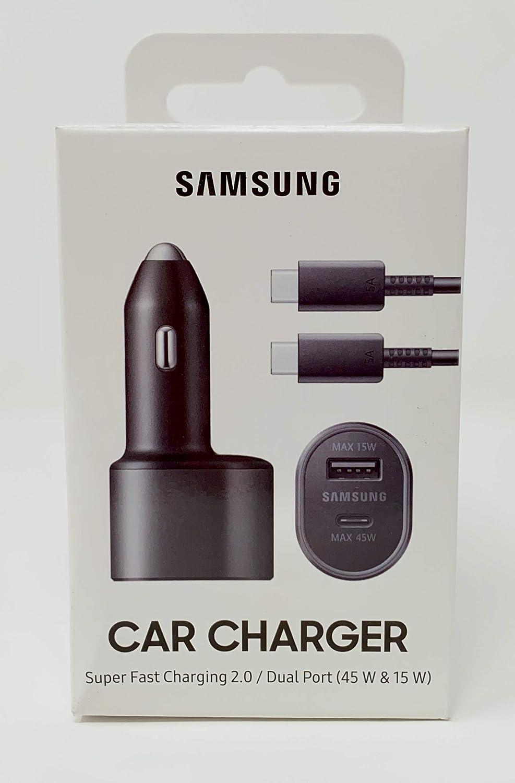 SAMSUNG Super Fast Dual Car Charger (45W+15W) Two Ports EP-L5300XBEGWW Black
