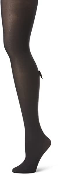 fa52ee6d11806 Pretty Polly Women's Bow Backseam Tights, Black/White, One Size at ...