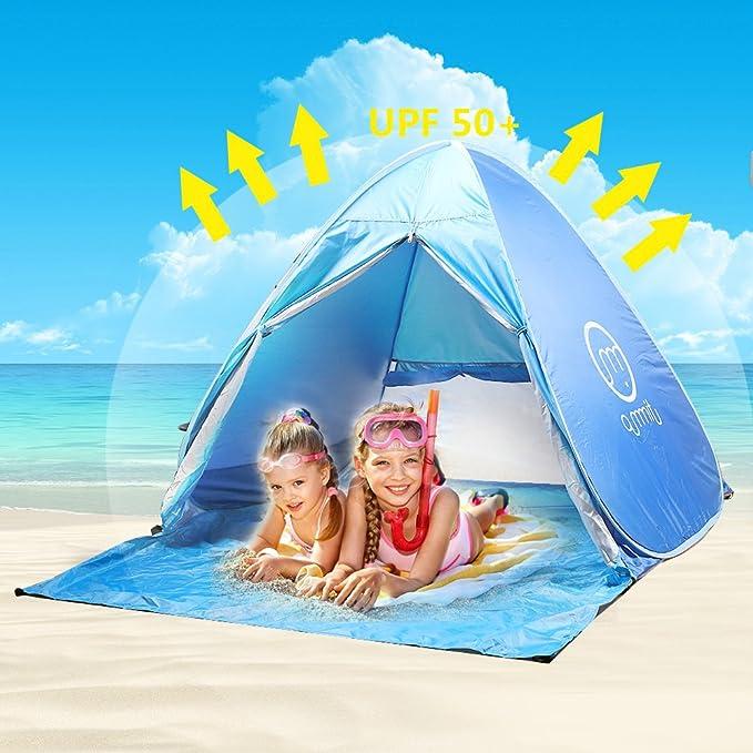 1 opinioni per Tenda da spiaggia bambini adulti Anti UV, oummit Tenda Pop Up automatico