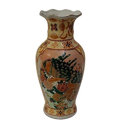 Amazon Happy Home Gifts 8 Fluted Satsuma Vase With Birds