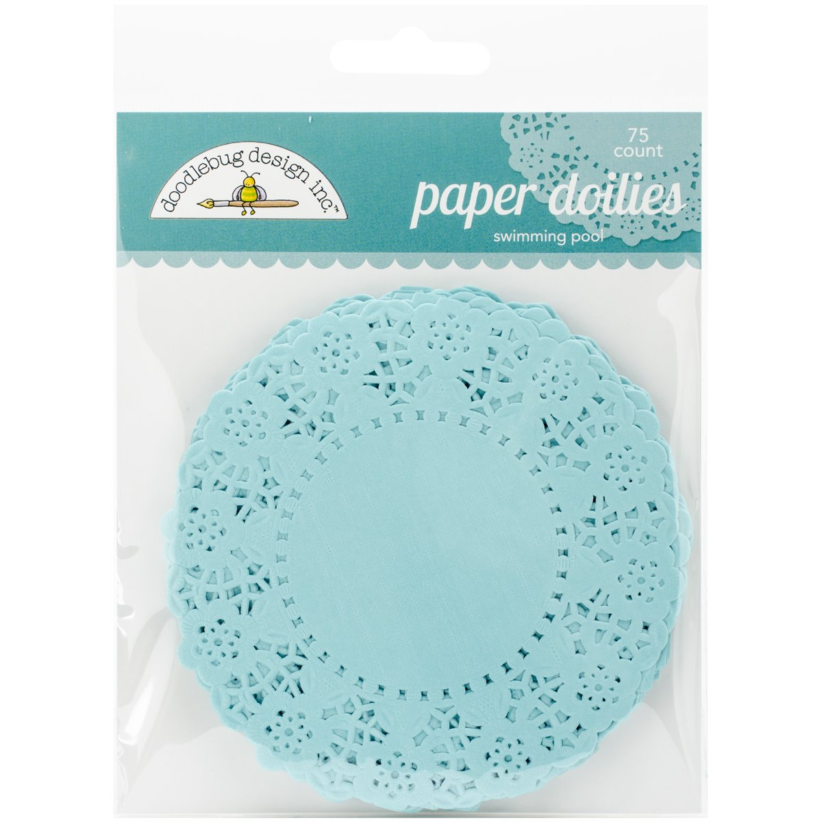 Doodlebug Doilies, 4.5-Inch, Swimming Pool, 75-Pack