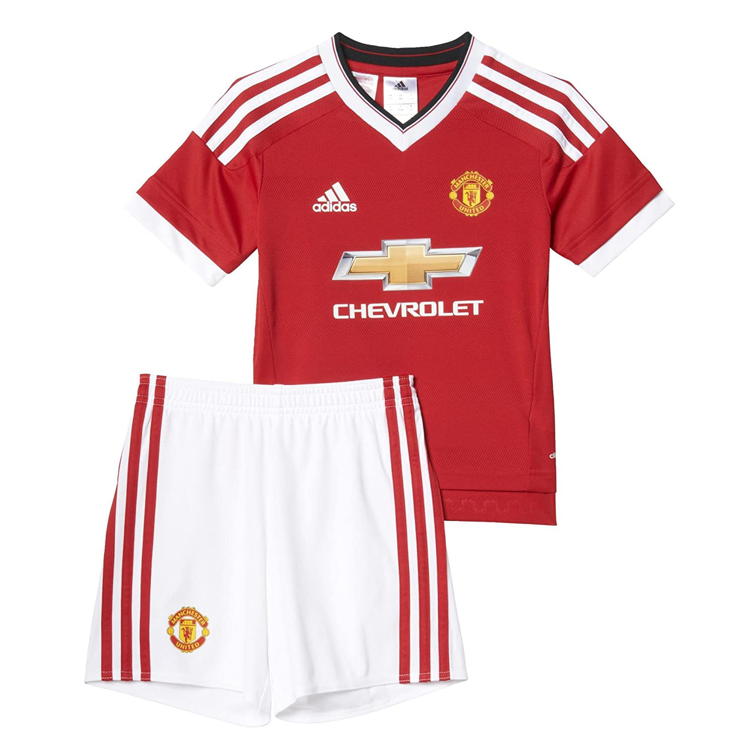 adidas MUFC H Mini Boys' Tracksuit – Red/White red/white 2 Years