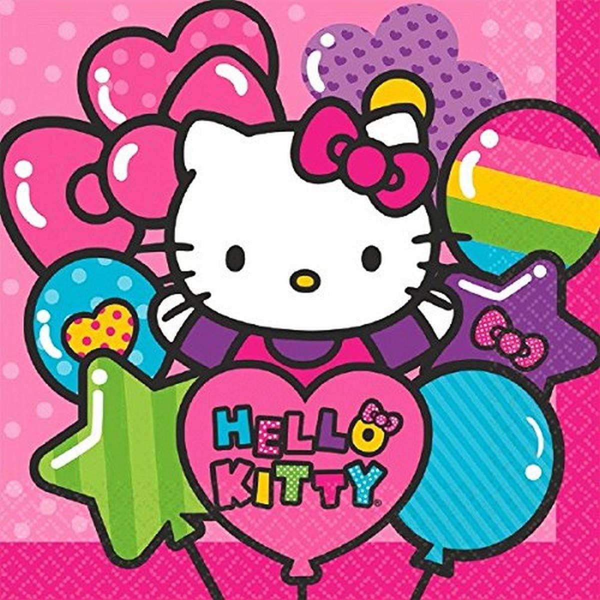 Amscan 511417 Luncheon Napkins   Hello Kitty Rainbow Collection   6