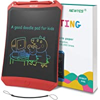 NEWYES LCD Writing Tablet Robot Pad, Colorful Display, 8.5 Inch, with Lock Switch (Red)