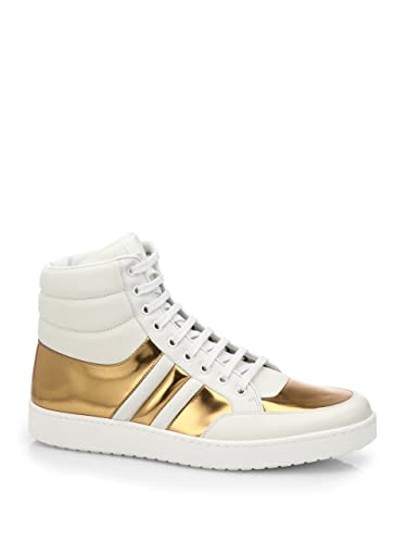 93f5b0378 Amazon.com  Gucci Men s Contrast Padded Leather Hi-Top Sneaker ...