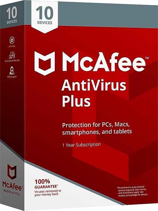 Mcafee 2018 antivirus plus - 10 dispositivos: Amazon.com.mx: Software