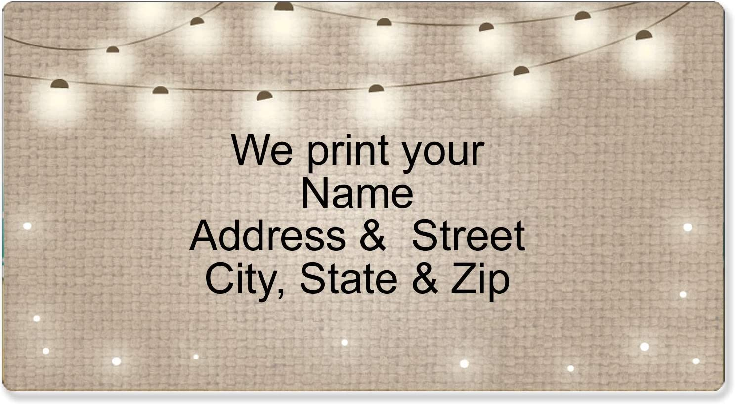 90 BALL COUNTRY FLOWER BIG PERSONALIZED ADDRESS LABELS 2.625 X 1 INCH