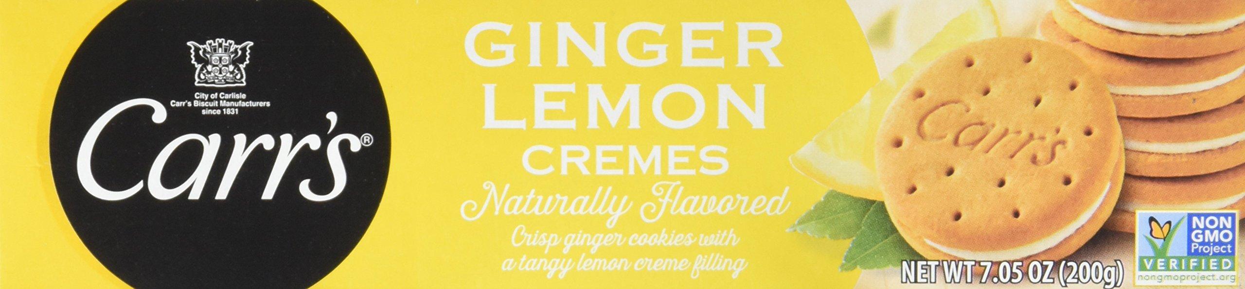 Carr's Ginger Lemon Crèmes Cookies, 7.05 oz(Pack of 8)