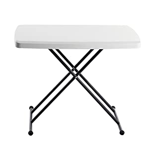 Iceberg 65490 Indestructible Too 1200 Series Resin Personal Folding Table 30 x 20 Platinum
