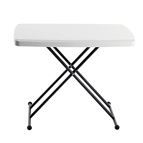 Iceberg IndestrucTable TOO 1200 Series Resin Personal Folding Table 30 x 20, Platinum
