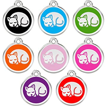 amazon dog tags pet tags engraved designers round with cat by