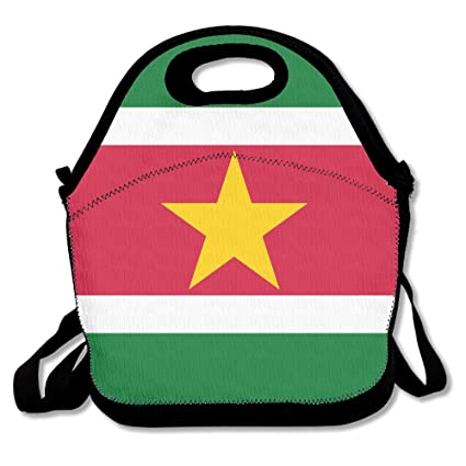 9e783e857d5f Amazon.com: Suriname Flags Of Countries Insulated Lunch Bag ...