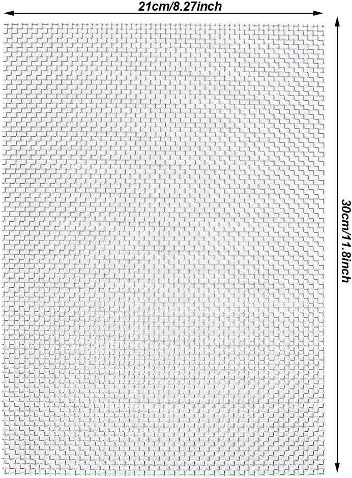 TIMESETL 3 Piezas Malla de Alambre Malla Tejido A4 210 x 300 mm Malla de Acero Inoxidable 304 Filtraci/ón de Hoja de Filtro de Pantalla Ideal para Ladrillos A/éreos