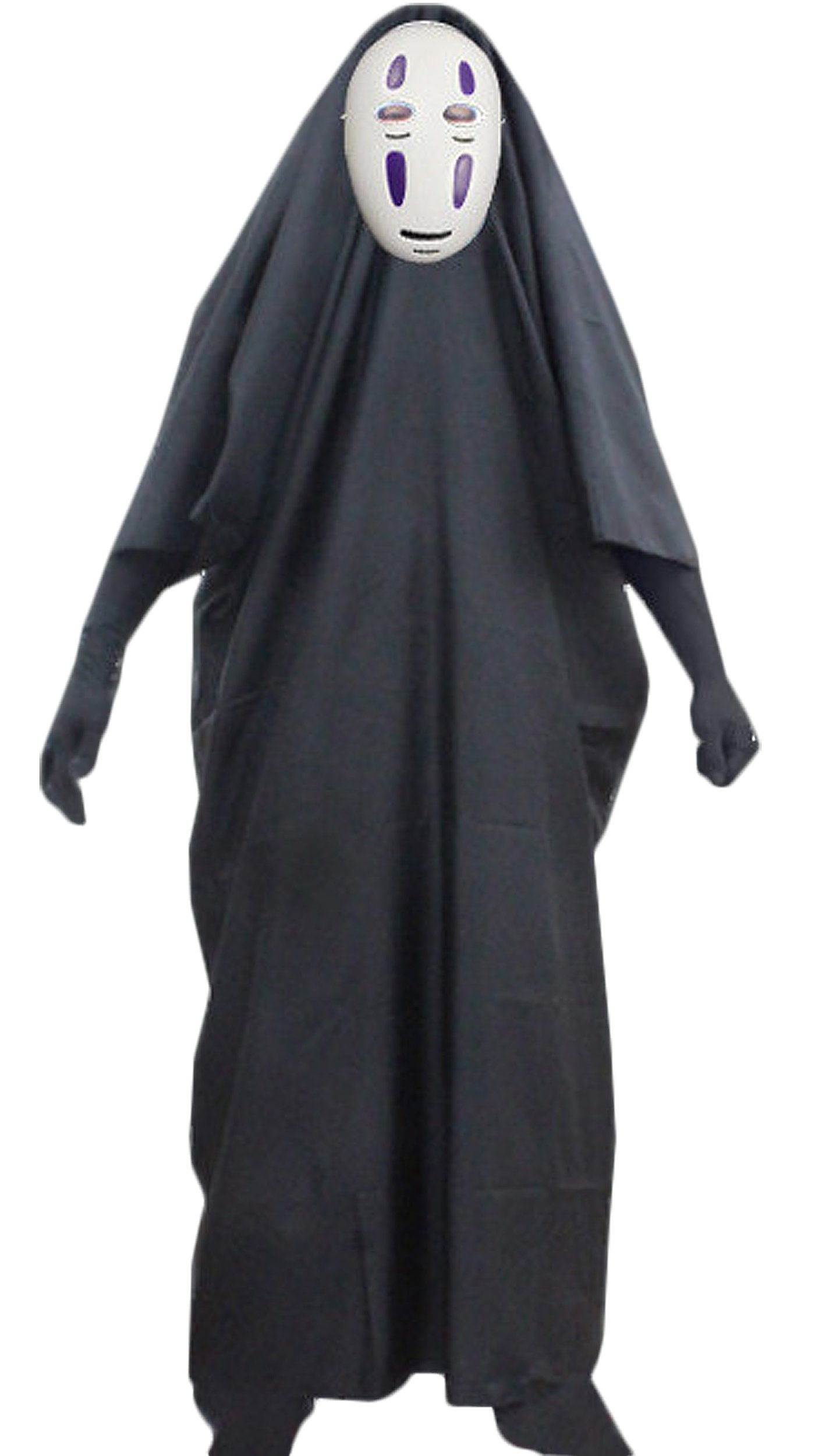 Pulle-A Anime Fancy No-Face Spirited Away Halloween Cosplay Costume with Mask gloves for Halloween STYLE 2 S