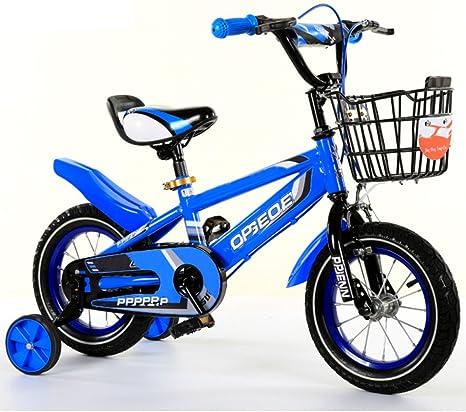 YIHANGG Bicicleta para Niños 2~10 Años Balanza Bicicleta De Pedales Niño Niña Ajustable Ligero Entrenamiento Ruedas,Blue(16Inches): Amazon.es: Deportes y aire libre