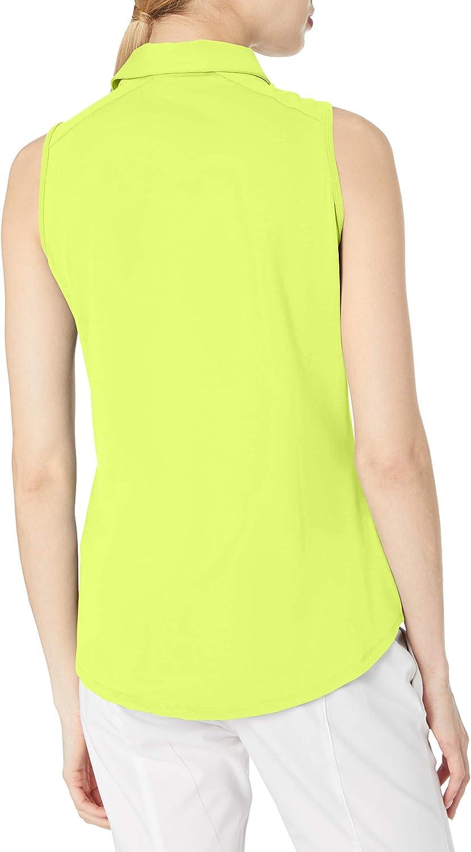 adidas Ultimate365 Sleeveless Polo Femme Mélange Jaune Solaire.