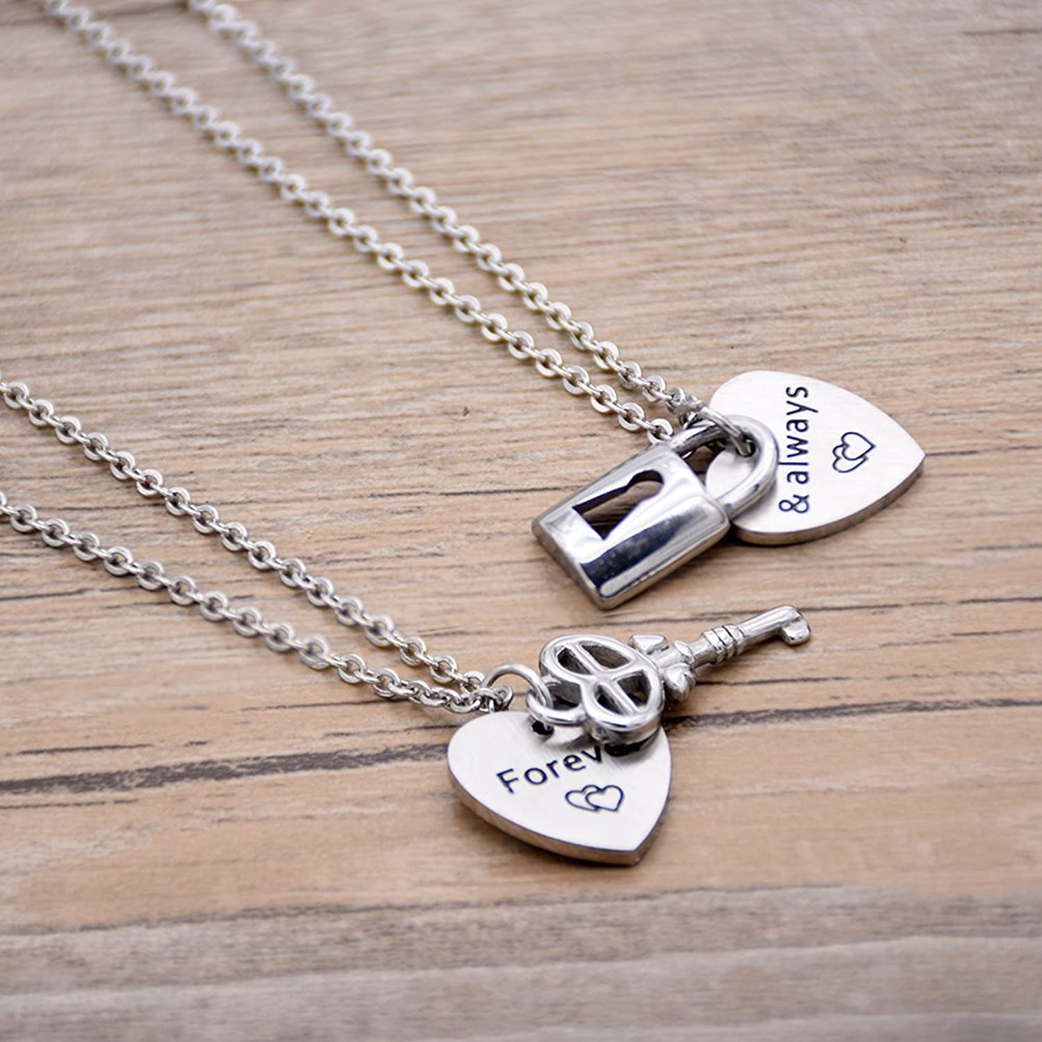 Melix Couples Necklace Set for Boyfriend And Girlfriend with Lock ...