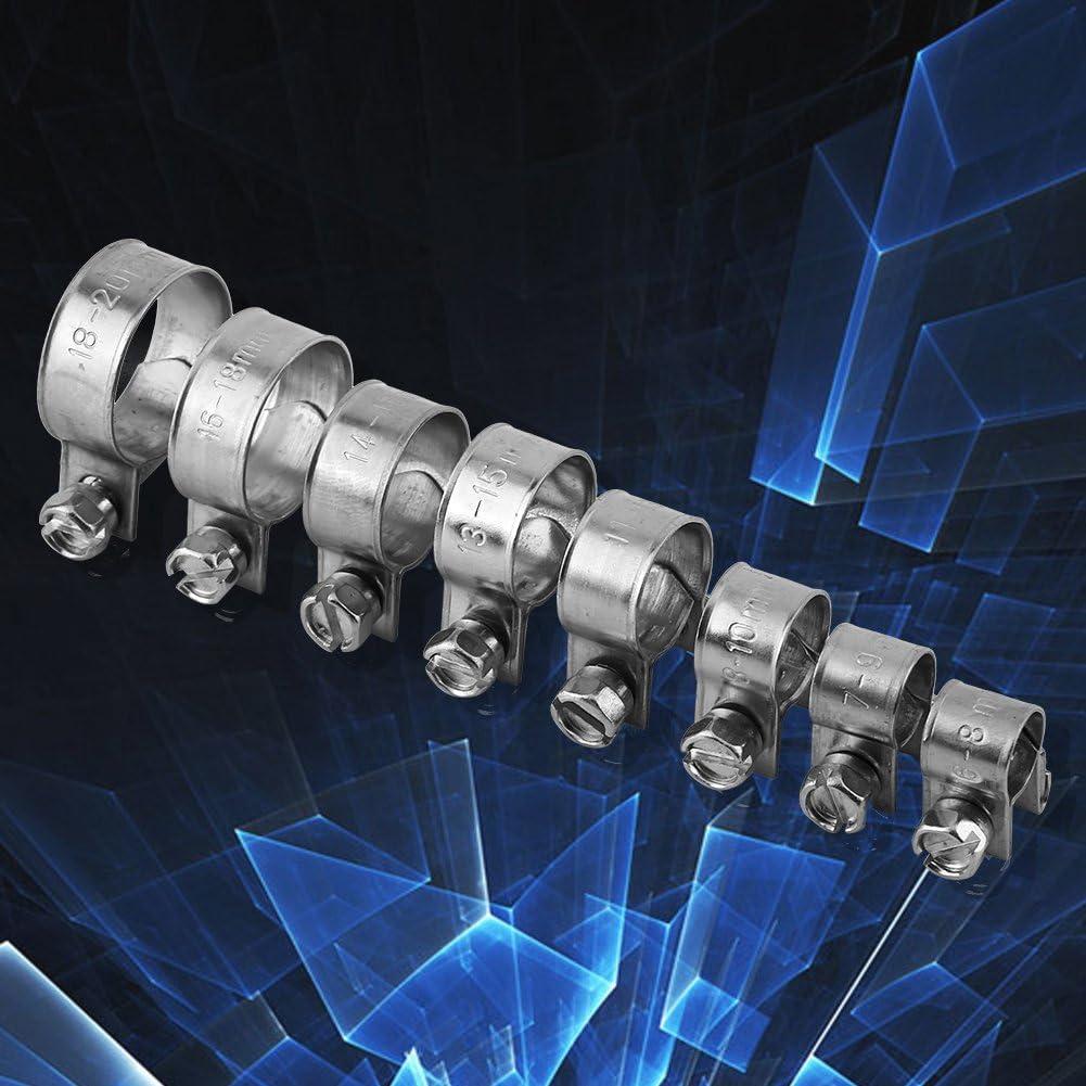 10 Stücke Schlauchschelle Edelstahl Mini Kraftstoffleitung Rohr Clip 6mm 20mm Optional Größe 13 15mm Baumarkt