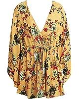 MUTR flor Impressão batwing manga mulheres vestido de verão Sexy v pescoço vestidos de cintura alta