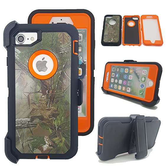sale retailer fe7e6 ff054 iPhone 7 Plus Camo Case, Kecko Tree Camouflage Shock-absorbing Drop Proof  Impact Resistant Tough Hybrid Rubber Protective Case w/ Belt Clip for  iPhone ...