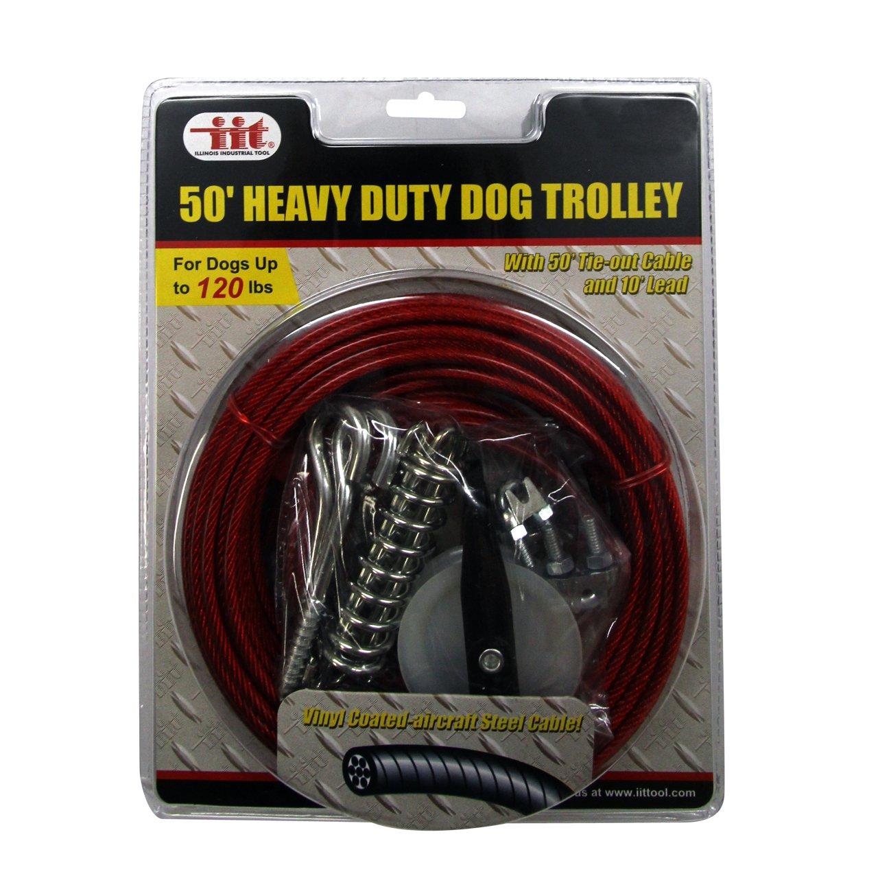 amazon com iit 99915 heavy duty 50 foot dog trolley iit pet