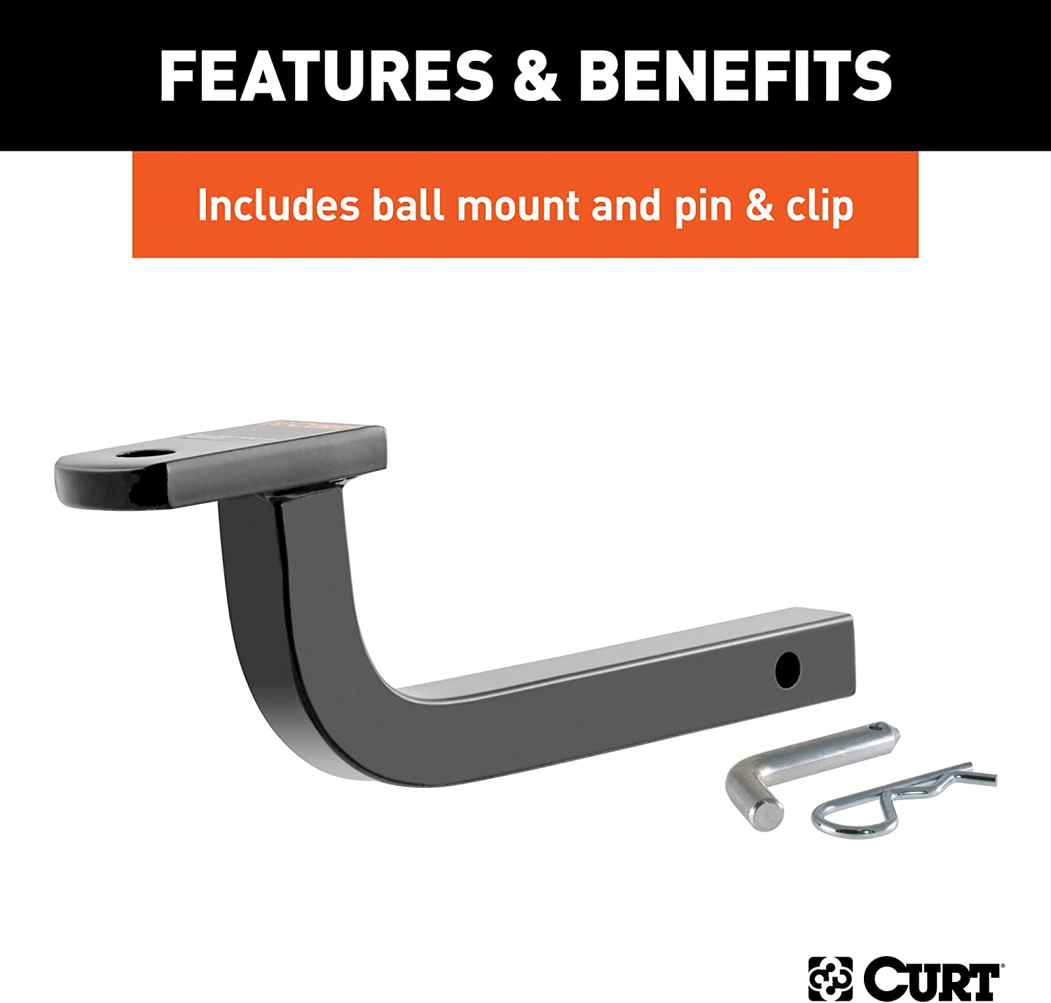 CURT 114383 Class 1 Trailer Hitch with Ball Mount V50 1-1//4-Inch Receiver  for Select Volvo S40