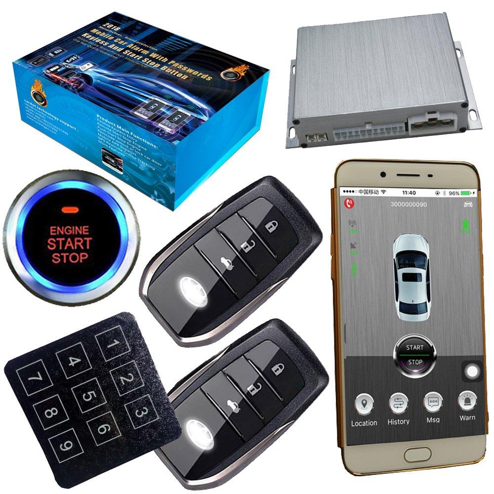 GSM Car Alarm System With Passwords Keyless Central Lock Unlock Smart Phone App Control
