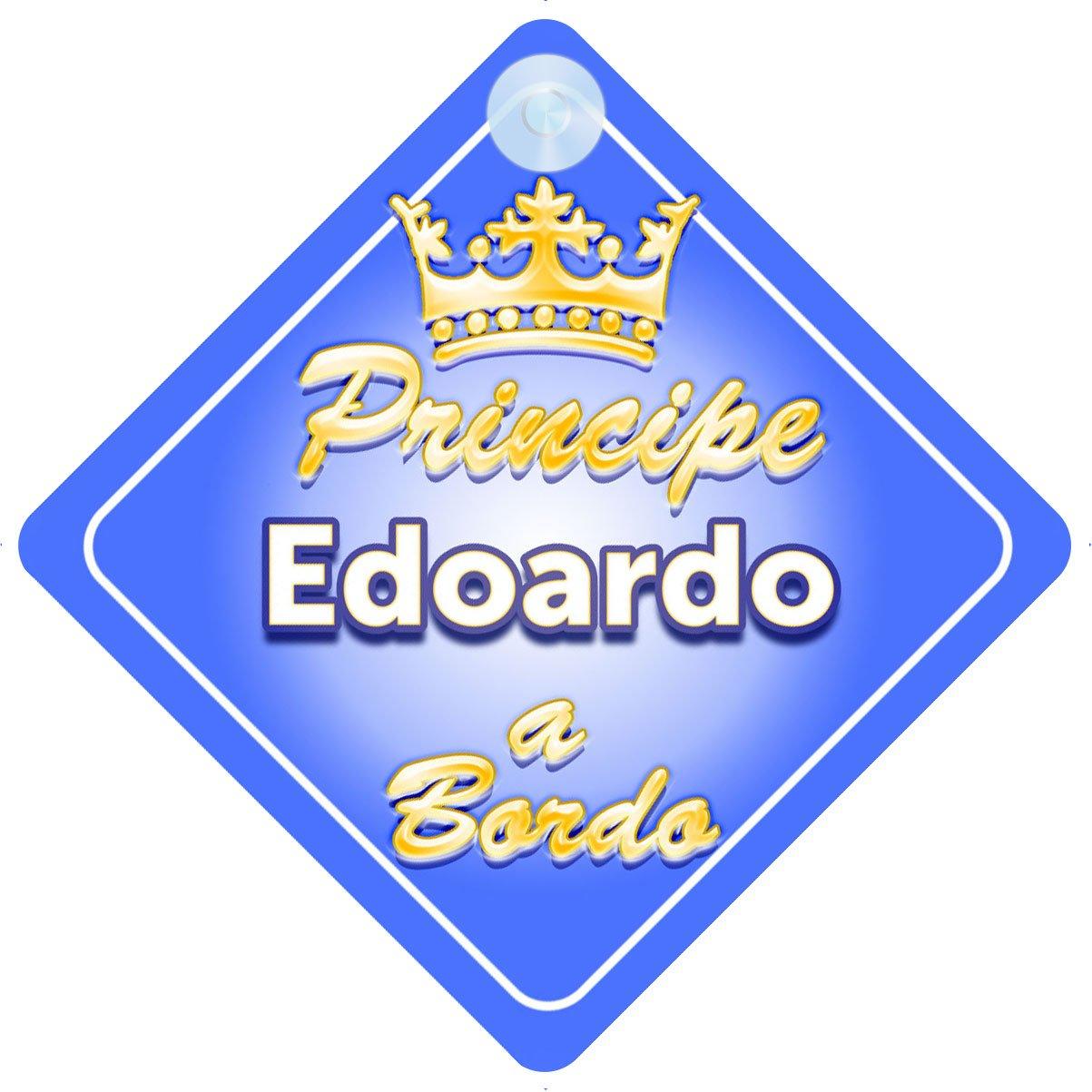 Corona (Crown) Principe Edoardo / adesivo bimbo / bambino / neonato a bordo per maschi principe / principino adesivo macchina Quality Goods Ltd